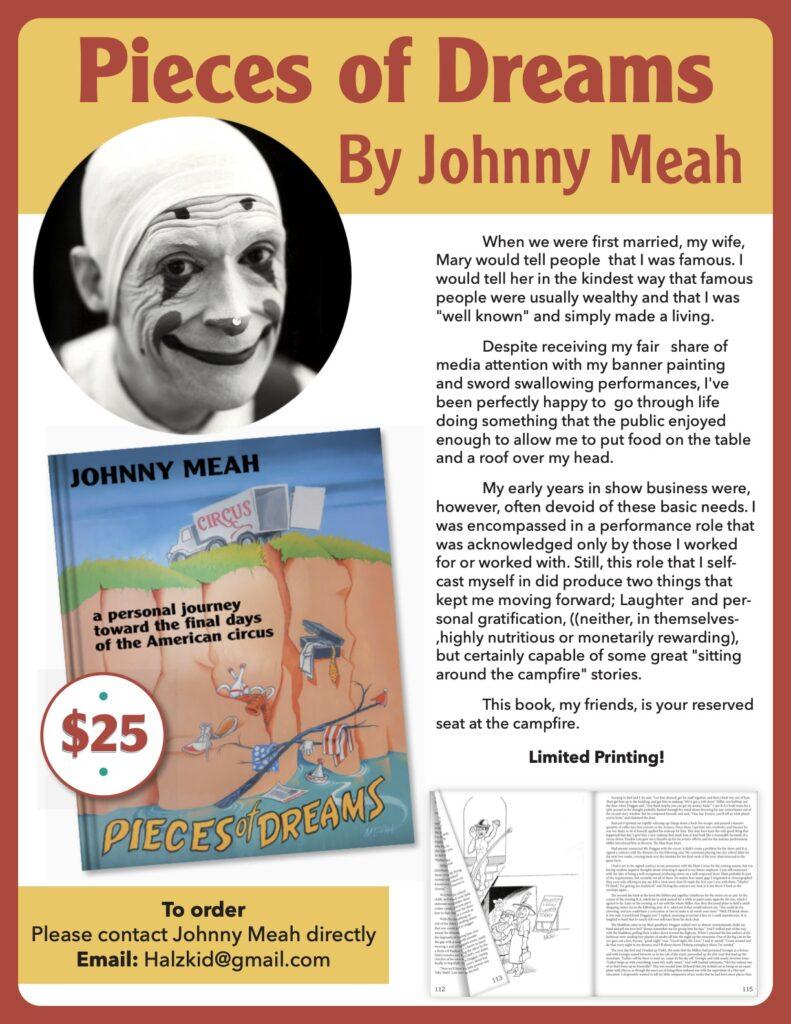 Johnny Meah Pieces of Dreams Book release flyer